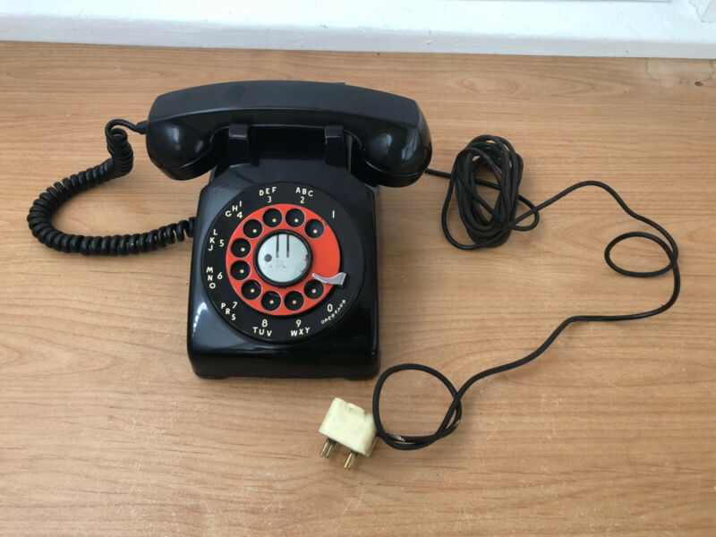 Vintage Western Electric Rotary Phone G1 USA CD 500 Black Electric Desk Untested
