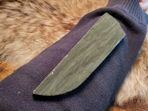 BROTHERS BLUE DAMASCUS OBSIDIAN Flint Knapping Primitive Skinning Knife Preform