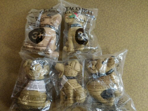 Vintage Taco Bell Talking Chihuahua Plush Dogs 5 Different Versions New in Bags