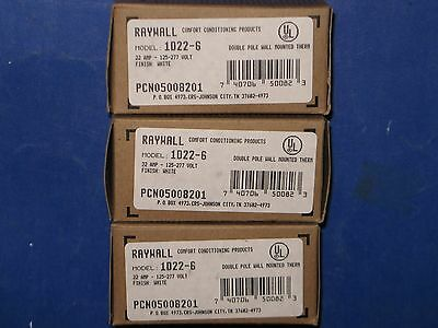 Raywall 22a 125-277v Double Pole Wall-mounted Thermostat 1d22-6 Pcn05008201 3nib