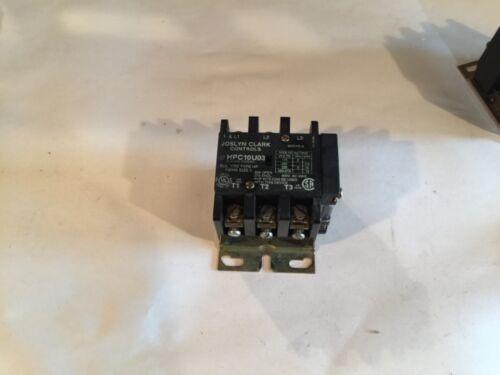 JOSLYN CLARK CONTROLS CONTACTOR HPC10U03 7707 TYPE HP 120V coil TB174-1