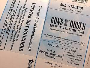 Guns n' Roses Concert in Sydney Sydney City Inner Sydney Preview