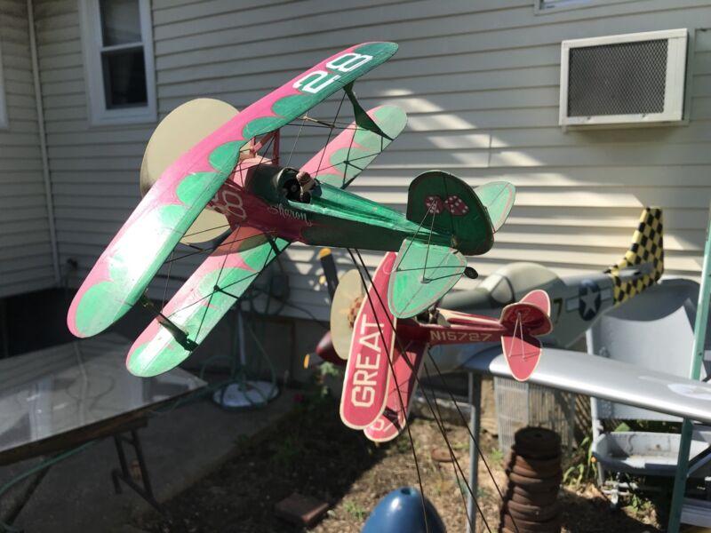 2 Great Lakes airplane model Biplane