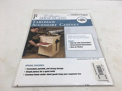 Wood Working Shop Plans For Table Saw Accessory Cabinet