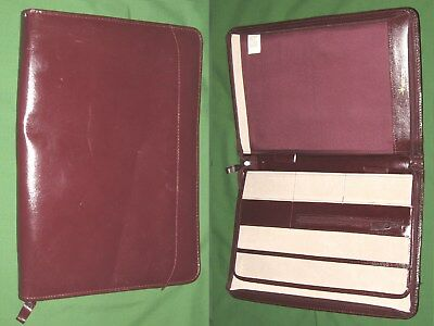Note Pad 8.5x11 Red Leather Day Runner Planner Binder Franklin Covey Monarch