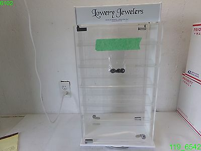 Lowery Jewelers 5 Shelf 2 Sided Rotating Display Case Keys -new 1 Shelf Broke
