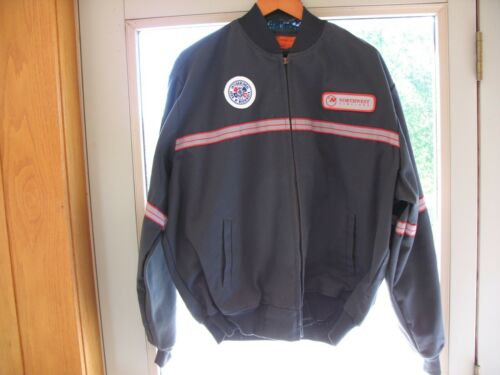 VINTAGE NORTHWEST AIRLINES GRAY JACKET, SIZE:  XL-R