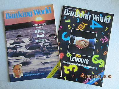 MONEYCARE & BANKING WORLD MAGAZINES X 4-1985 & 1992