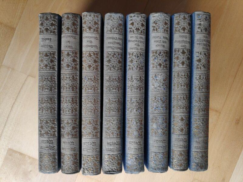 8 Bücher von 1925: Schillers Werke - bearbeitet von Dr.Chr.Christiansen
