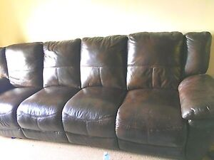 LEATHER SECTIONAL *price reduced*