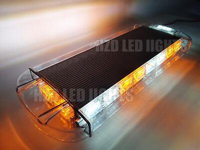 21  60 Led Emergency Beacon Warning Flash Roof Top Strobe Light Bar Amber White