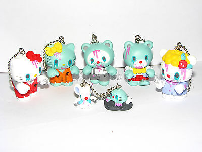 Mad Barbarians Hello kitty Zombie Friend keychain figure gashapon set ( 6 (Mad Kitty)