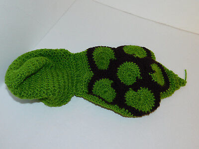 Crocheted Turtle Baby Costume Outfit 0-3 Month Photo Prop Hand Made  ()