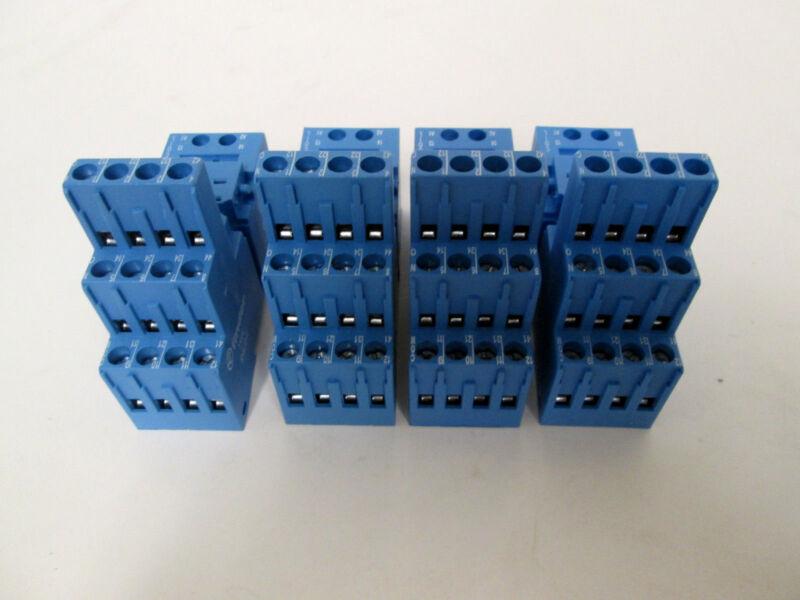 (4) Finder 94.04 Clamp Terminal Sockets 10A-250V