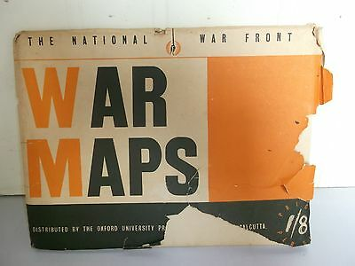 Rare old vintage national war front EASTERN & WESTERN theater war maps of 60's
