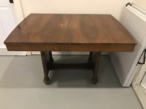 Vintage Table Leaf and Four Chairs