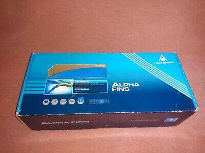Aqua Sphere Alpha Fins Swim Training Fins Small Blue New in Box FREE SHIPPING US Alpha Swim Fin
