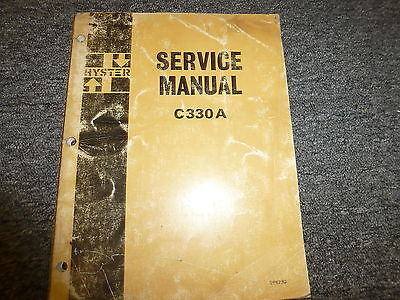 Hyster C330a Tandem Smooth Drum Roller Compactor Shop Service Repair Manual