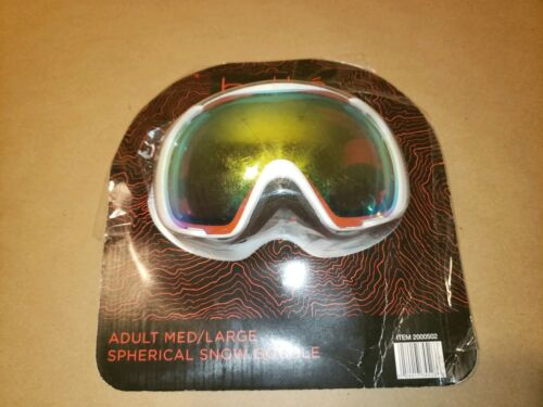 adult medium to large spherical snow goggles