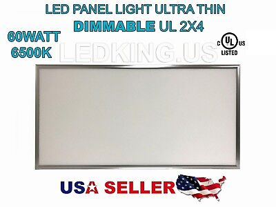 Panel 60w 2x4 6500k Led Light Ultra Thin Ul External Driver New Dimmable 6600lm