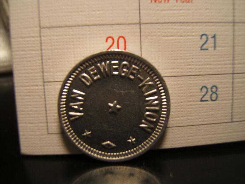 VAN DEWEGE-KINION Token  Good for 5 Cent in Trade UNCIRCULATED  Kansas
