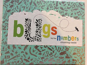 Large bug counting flash cards
