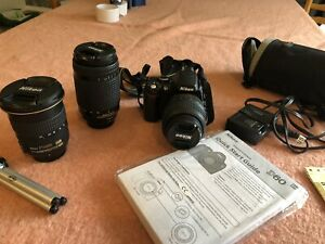 Nikon D60 with 3 Lenses, 18-55, 70-300, 12-24