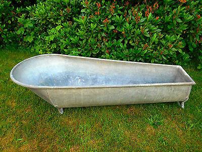 Große dichte bäuerliche Zinkwanne Badewanne Pflanzgefäß Gartendeko L.166 cm W10