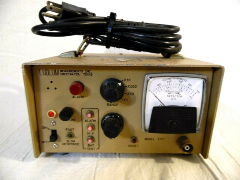 Ludlum Model 177 Alarm Rate Meter 3/15/2005