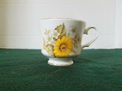 Vintage DUCHESS Bone China England Tea Cup Dandelion Gold no saucer free ship Bone China England Tea Cup