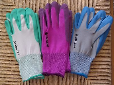 Gardena Womens 3 Pairs Gardening Gloves Nitrile ...