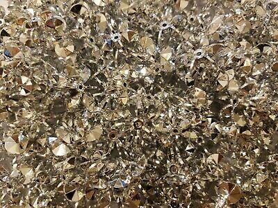 100 Pcs Silver 25mm Large Starflake Sunburst Plastic Acrylic Craft Beads](Large Plastic Beads)