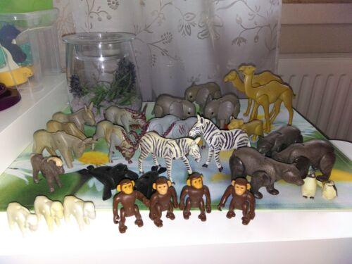 Playmobil, über 30 Tiere Zubehör für Zoo, gebraucht TOP Affen Elefanten Zebras