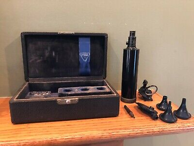 Vintage Doctor Physician Bausch Lomb Otoscopeopthalmoscope Set