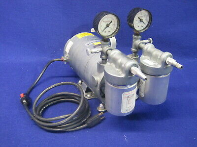 Vwr Gast Rotary Vane Vacuum Pump Emerson G180dx 14hp 26 In Hg Max - Tested