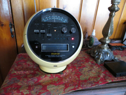 Weltron Yellow 2001 Space Ball FM AM Radio 8 Track Player  1970s Japan - L@@K