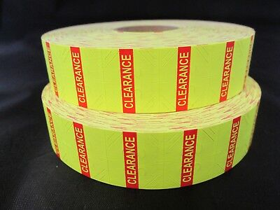 Yellow Clearance Labels For 1136 1138 Monarch Labelers 2 Rolls