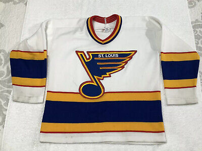 VINTAGE White 1980s St Louis blues NHL CCM hockey jersey YM Blues 1980 Vintage Jersey