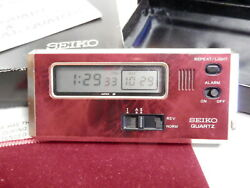 Vintage Seiko Quartz Digital Dual Time Travel Pocket Alarm Clock 74101 7411-003R