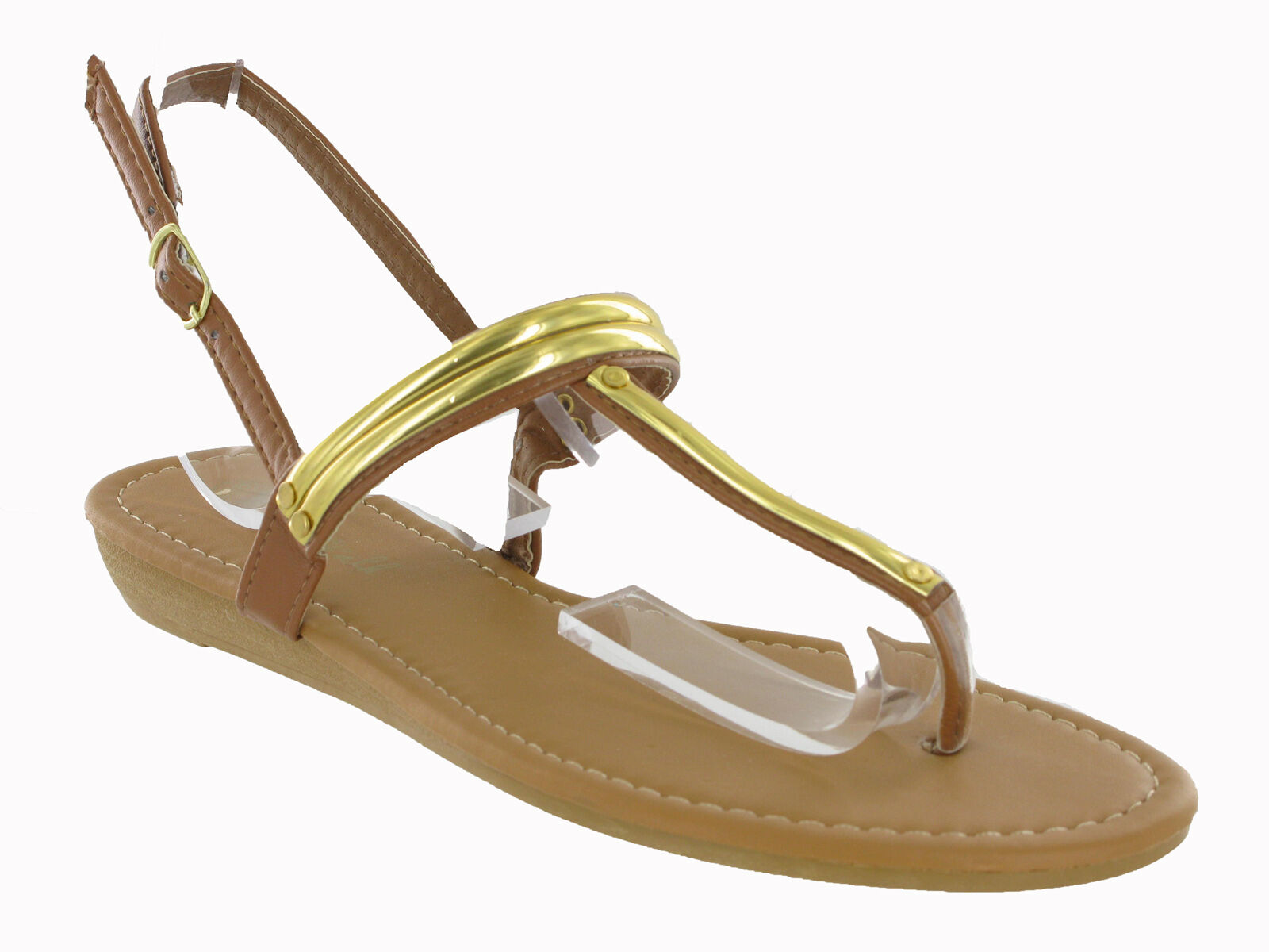 5b3c8088322 Toepost Small Wedge Flip Flop Buckle Summer Womens Strappy Sandals UK3-9