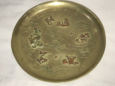 Beautiful Antique 19th Century Japanese Mixed Metal Dish