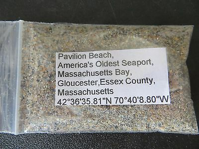 Massachusetts Pavilion Beach, America's Oldest Seaport, Sand Sample