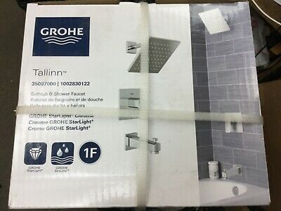GROHE Tallinn 1-Handle Tub and Shower Faucet Trim Kit (Valve Included) Grohe Tub Shower