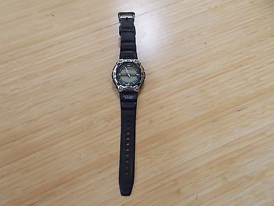 Casio Aqw100 Mens Wrist Watch Casual Sport Moon Phase Alarm