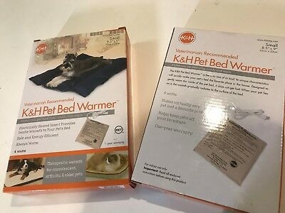 K&H  PET BED WARMER CAT DOG BED ELECTRIC PAD SMALL VET RECOMMENDED NEW in BOX