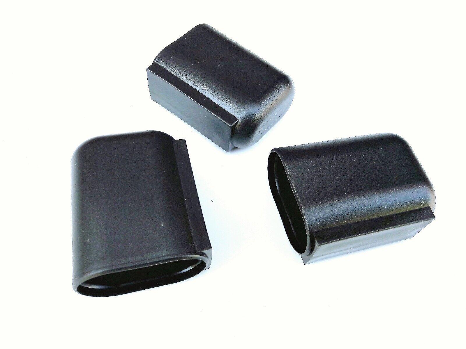 Stuhlgleiter Oval wahlweise mit Filz Tischgleiter Möbel Kappe Kunststoff Gleiter
