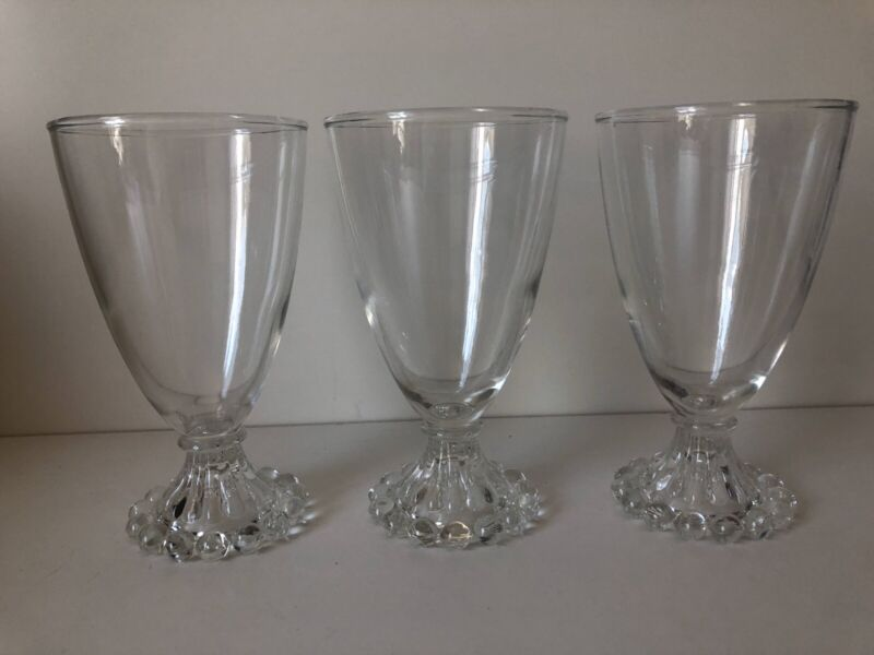 3 VINTAGE CLEAR ANCHOR HOCKING BOOPIE BURPLE COCKTAIL ICED TEA GLASSES BARWARE