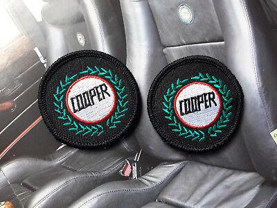 John Cooper Rover Classic Mini Black Leather Interior Seat Cloth Patches Mpi Si