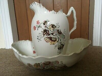 `Stunning Vintage Wash Bowl And Jug Early 1900,s (Sweat Pea Design)
