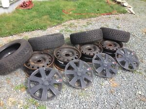 195 55 16 GoodYear Winter Tires,Rims and Rims Covers